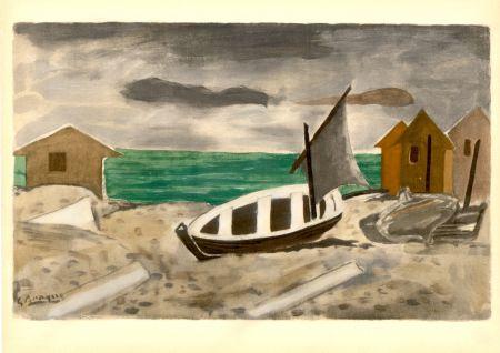 ステンシル Braque - À Varengeville (1956) de l'album : Douze Contemporains par J. Lassaigne (1959)
