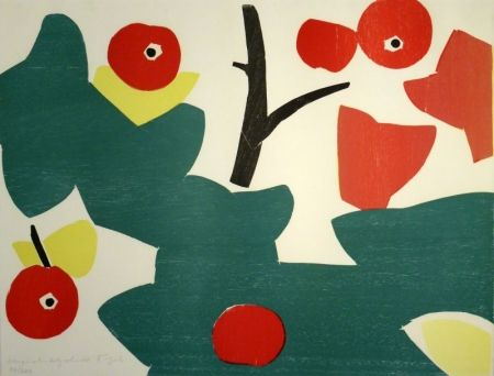 木版 Gehr - Äpfel