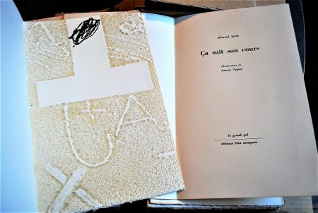 挿絵入り本 Tapies - Ça Suit Son Cours.