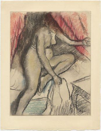 エッチングと アクチアント Degas - Étude de nu (vers 1880)