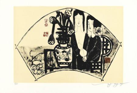 リトグラフ Tongzhengang - éventail