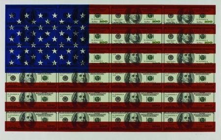 シルクスクリーン Gagnon - $100 U.S. Flag