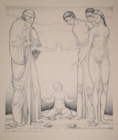 リトグラフ Schwalbach - 10 Original Steinzeichnungen