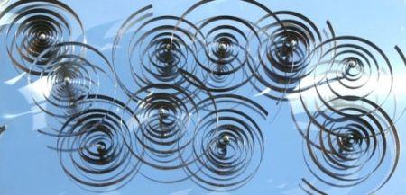 木版 Asis - 10 spirales mobiles sur acier