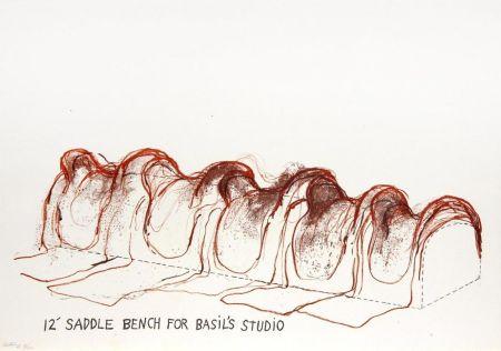 リトグラフ Dine - 12' Saddle Bench for Basil's Studio