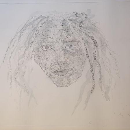 彫版 Smith - 1st State Self Portrait