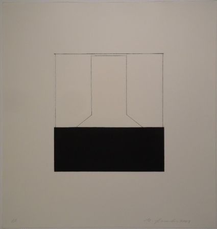 エッチング Spescha - 2003/11-12. Zweiteilige Radierungs-Serie