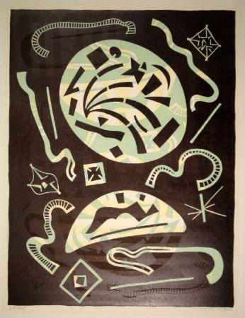 リノリウム彫版 Nebel - 23/1969