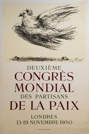 リトグラフ Picasso - 2e Congres Mondial des Partisans de la Paix