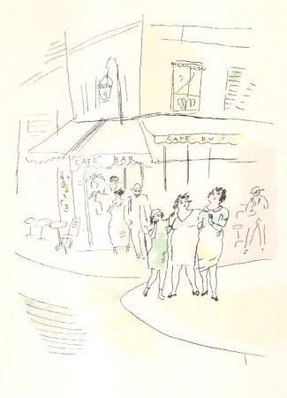 挿絵入り本 Pascin - 3 petites filles dans la rue.  Dessins en couleurs de Pascin