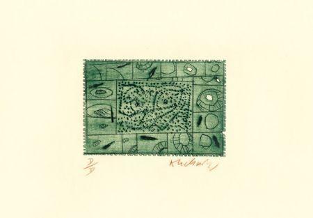エッチング Alechinsky - 3 petites plaques