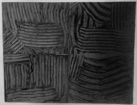 Collograph Gilliam - 3 plates