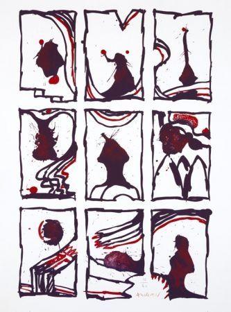 リトグラフ Alechinsky - 3 x 3