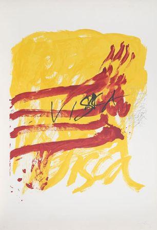リトグラフ Tàpies - 7 from Als Mestres de Catalunya