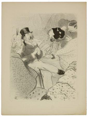 リトグラフ Hermann-Paul - 7. Les Fiancés