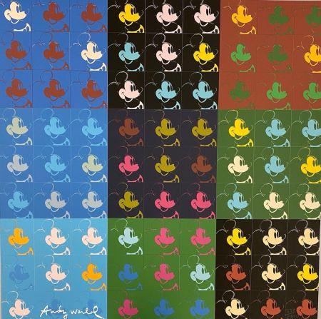 オフセット Warhol - 81 x Mickey Mouse