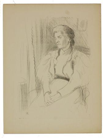 リトグラフ Hermann-Paul - 9. Jeune femme