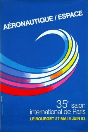 リトグラフ Auriac - Aéronautique Espace  Salon du  Bourget