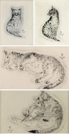 挿絵入り本 Foujita - A BOOK OF CATS. being Twenty Drawings by Foujita. New York 1930
