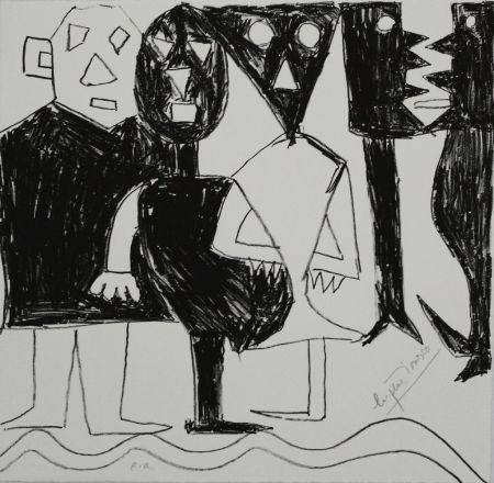 リトグラフ Ionesco - A bord de la nef
