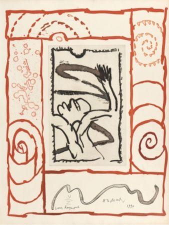 リトグラフ Alechinsky - A bras de corps