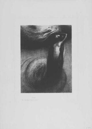 リトグラフ Redon - A Gustave Flaubert