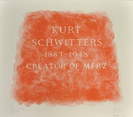 リトグラフ Myles - A History of Type Design / Kurt Schwitters, 1887-1948 (Ambleside, England)