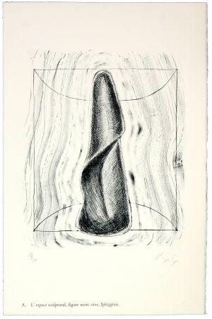 リトグラフ Nørgaard - A. L'espace sculptural, figure mort-vive, Iphygénie.