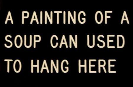 シルクスクリーン Anastasi - A Painting of a Soup Can