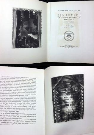 挿絵入り本 Alexeïeff - A. Pouchkine : Les Récits de feu Ivan Pétrovitch Bielkine (1930)