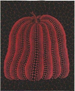 シルクスクリーン Kusama - A pumpkin