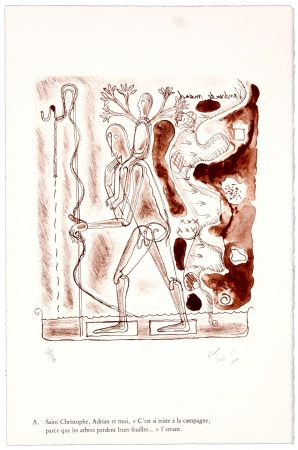 リトグラフ Nørgaard - A. Saint Christophe, Adrian et moi,