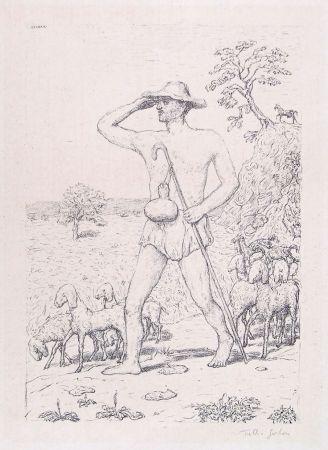リトグラフ Garbari - A SHEPHERD