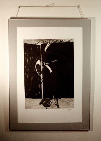 エッチングと アクチアント Barjola  - Abstracción II