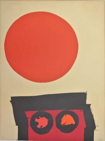 リトグラフ Feito - Abstraccion en rojo y negro