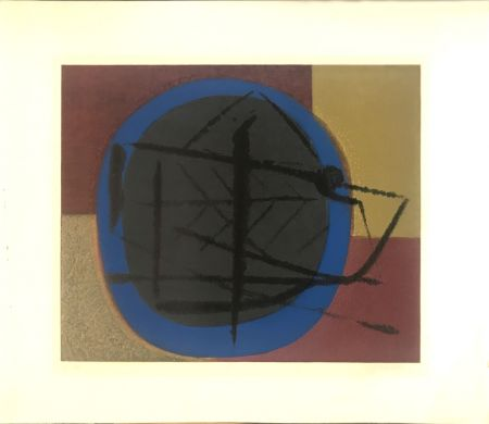 リトグラフ Piaubert - Abstract composition