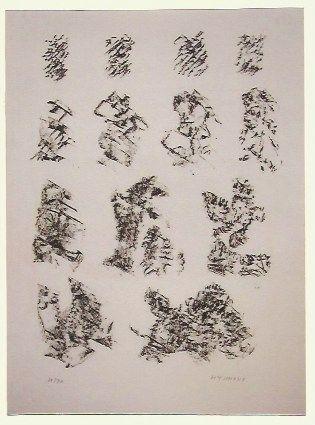 リトグラフ Michaux - Abstract composition VI
