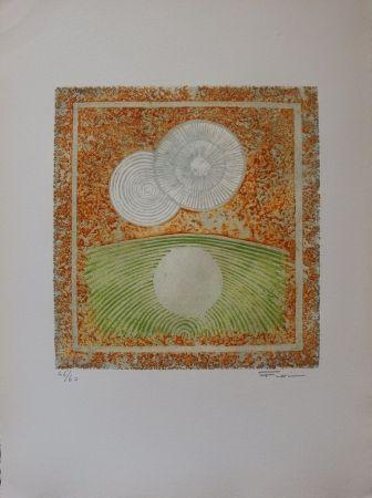 エッチングと アクチアント Fiorini - Abstraction aux deux soleils