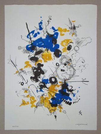 リトグラフ Cavael - Abstrakte Komposition