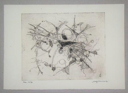 エッチング Cavael - Abstrakte Komposition