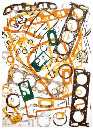 リトグラフ Arman - Accumulation Renault