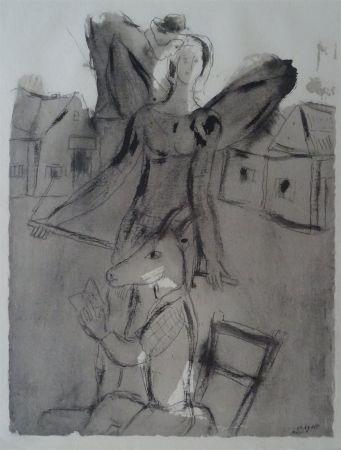 ステンシル Chagall (After) - Acrobate Aile