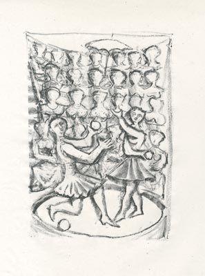 リトグラフ Campigli - Acrobati (Theseus)