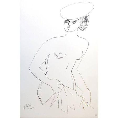リトグラフ Cocteau - Actrice