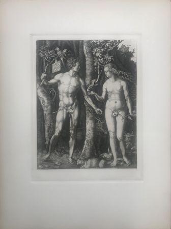 エッチング Durer - Adam & Eve