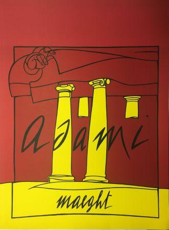 リトグラフ Adami - ADAMI 1980 : Lithographie originale pour la Galerie Maeght.