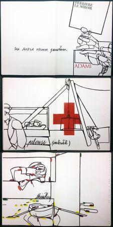 挿絵入り本 Adami - ADAMI. Le voyage du dessin. DERRIÈRE LE MIROIR N° 214. Mai 1975.