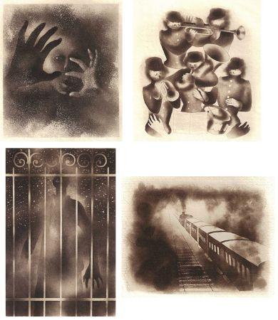 挿絵入り本 Alexeïeff - ADRIENNE MESURAT. Exemplaire avec 68 dessins originaux au crayon tous signés par Alexeieff.