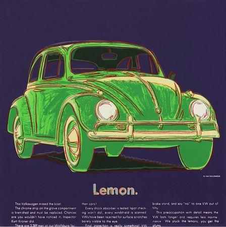 シルクスクリーン Warhol - Ads: Volkswagen Fs Ii.358