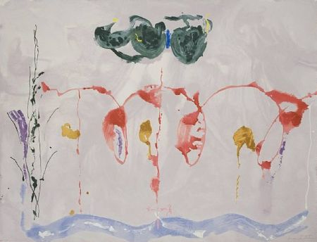 シルクスクリーン Frankenthaler - Aerie